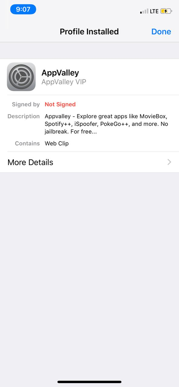 latest appvalley on iOS