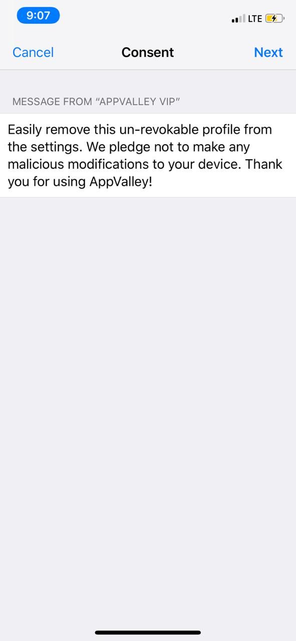 LATEST APPVALLEY ON IpHONE