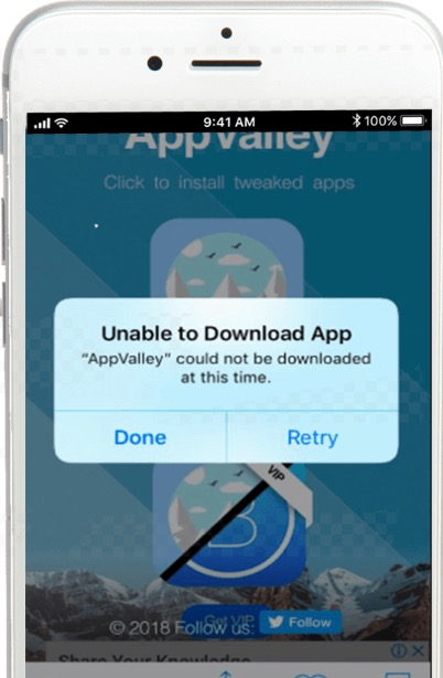 AppValley Unable to Download