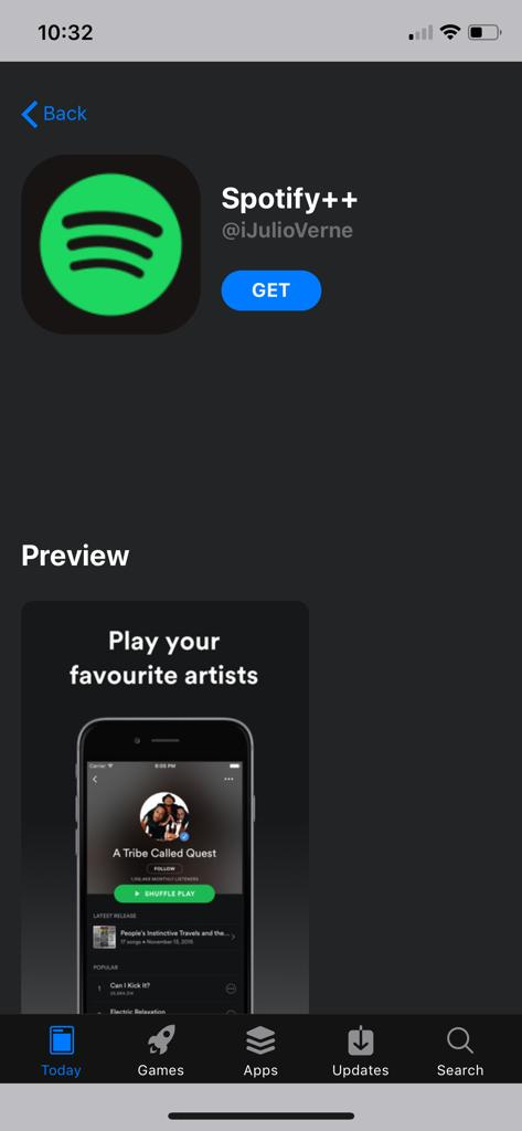 Get Spotify++ Free on iOS - AppValley