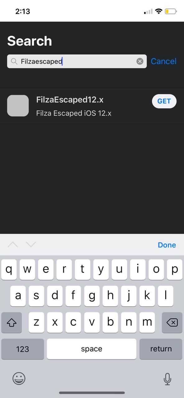latest filzaescaped on iOS