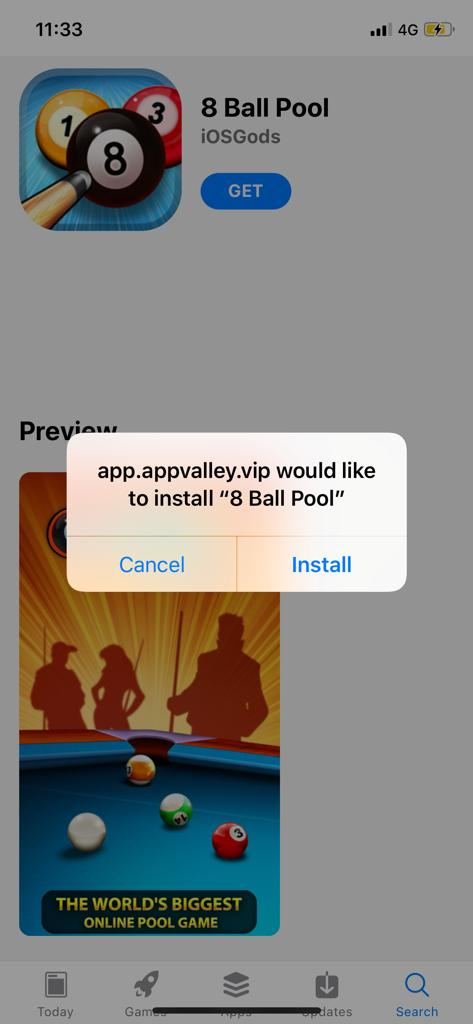 8 BALL POOL HACK IOS APPVALLEY