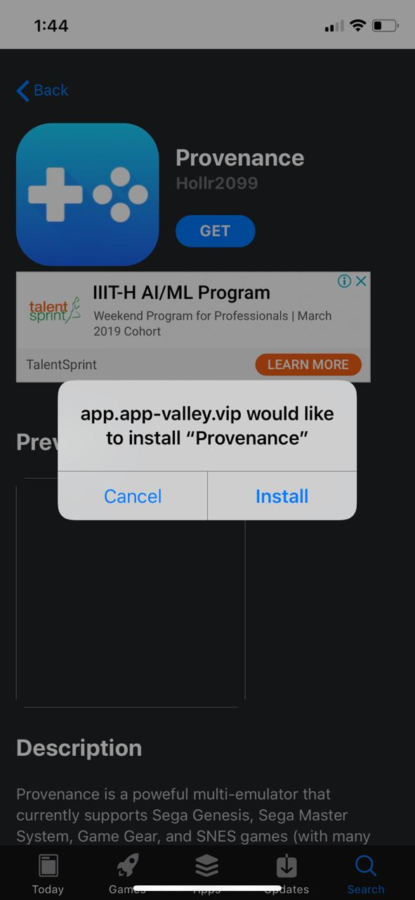 Updated Provenance on iOS devices