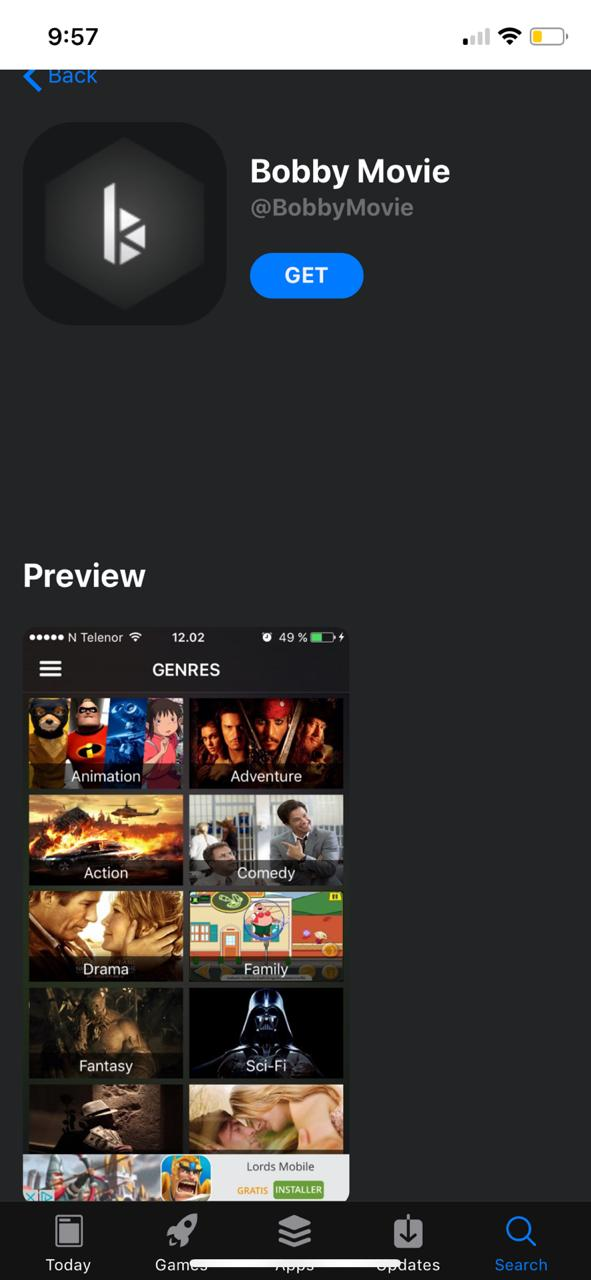 download cotomovies on iOS