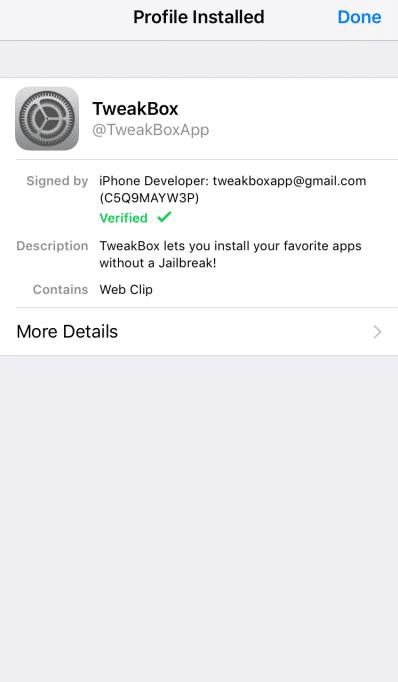Download TWEAKBOX ON IOS NO JAILBREAK