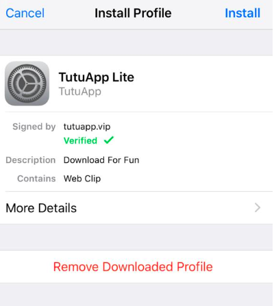 Install TuTuApp Lite on iPhone/iPad