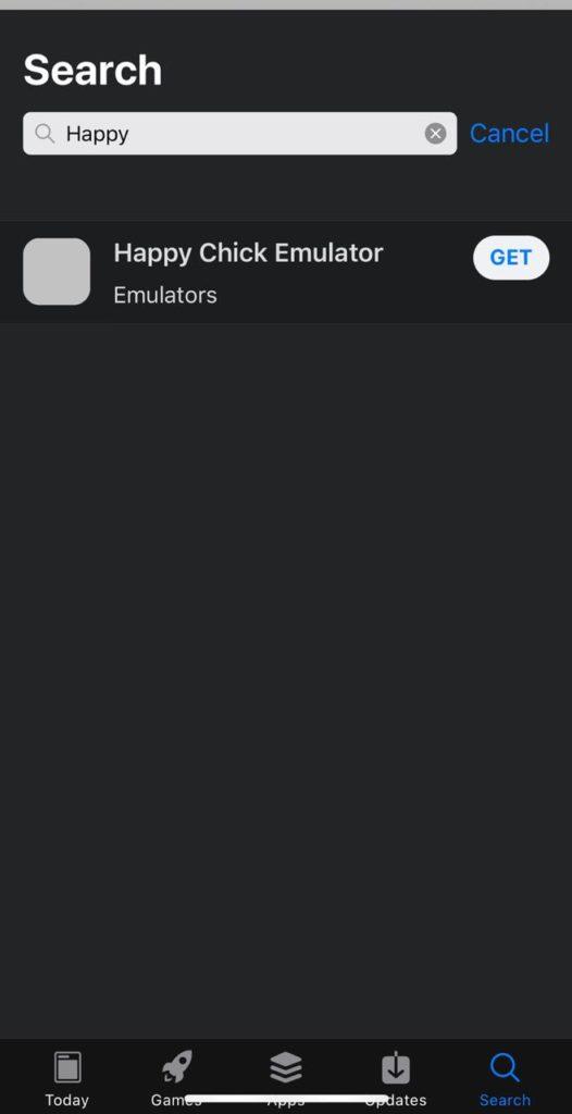 Happy Chick Emulator on iOS