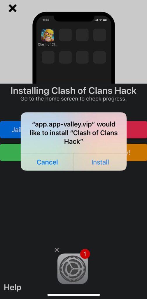 click install COC