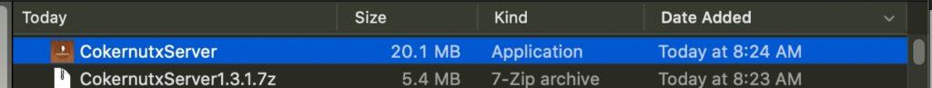 open cokernutx file on Mac