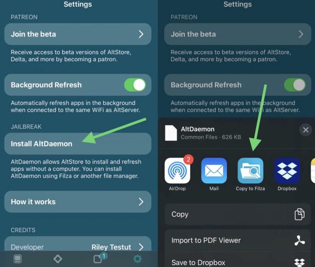 altdaemon on iOS