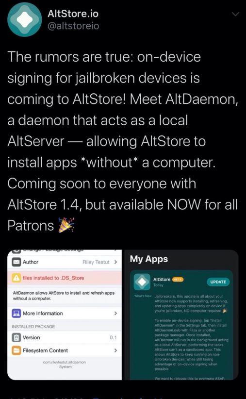 Latest Altdaemon for iOS