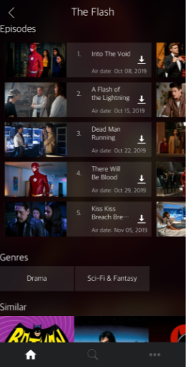 Aston Cine App (ZiniTevi UI)